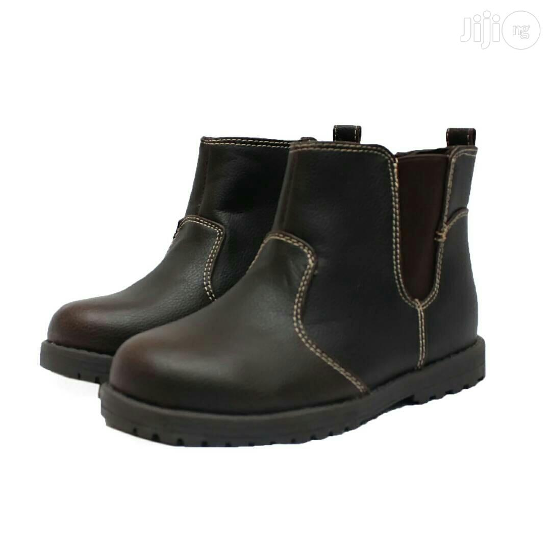 Archive: Brown Ankle Shoe for Boys
