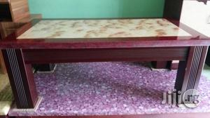 Complete Set of Unique Quality Marble Center Table With Two Side Stool | Furniture for sale in Lagos State, Ojo