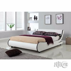 Italian Style Modern Tufted Leather Bed 6ft X 6ft | Furniture for sale in Lagos State