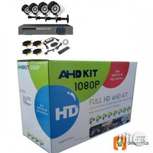 AHD 4 Chanels CCTV Combo Kit With Internet Phone Remote Viewing   Security & Surveillance for sale in Lagos State, Ikeja
