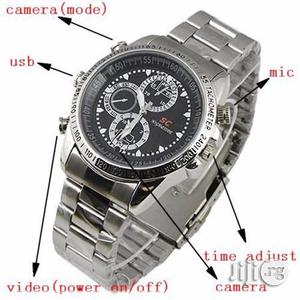 Spy Camera Wrist Watch With Voice Recorder   Security & Surveillance for sale in Lagos State, Ikeja