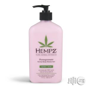 Hempz Herbal Body Moisturizer, Light Pink, Pomegranate, 17 Fluid Ounce | Skin Care for sale in Lagos State