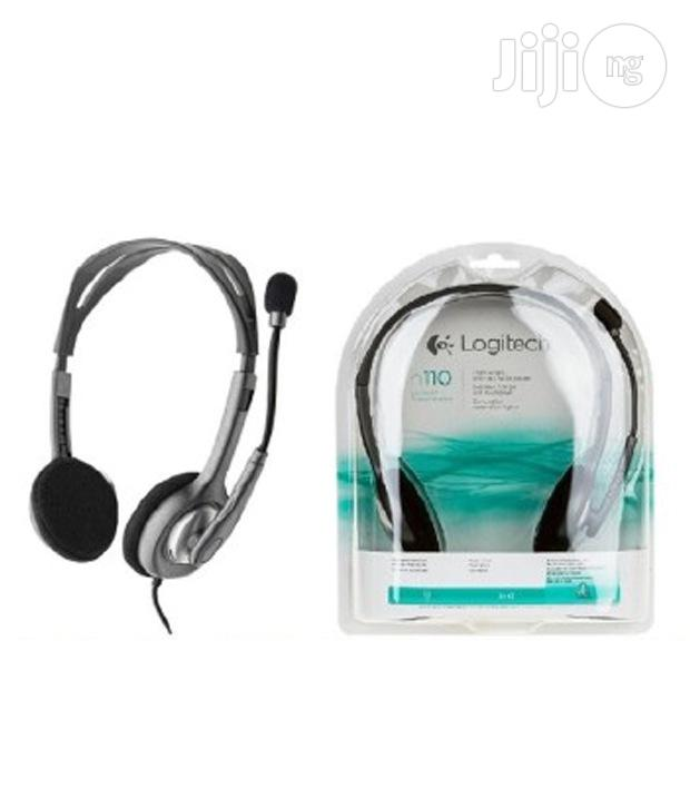 Logitech Stereo Headset H110 With Mic | Headphones for sale in Ikeja, Lagos State, Nigeria