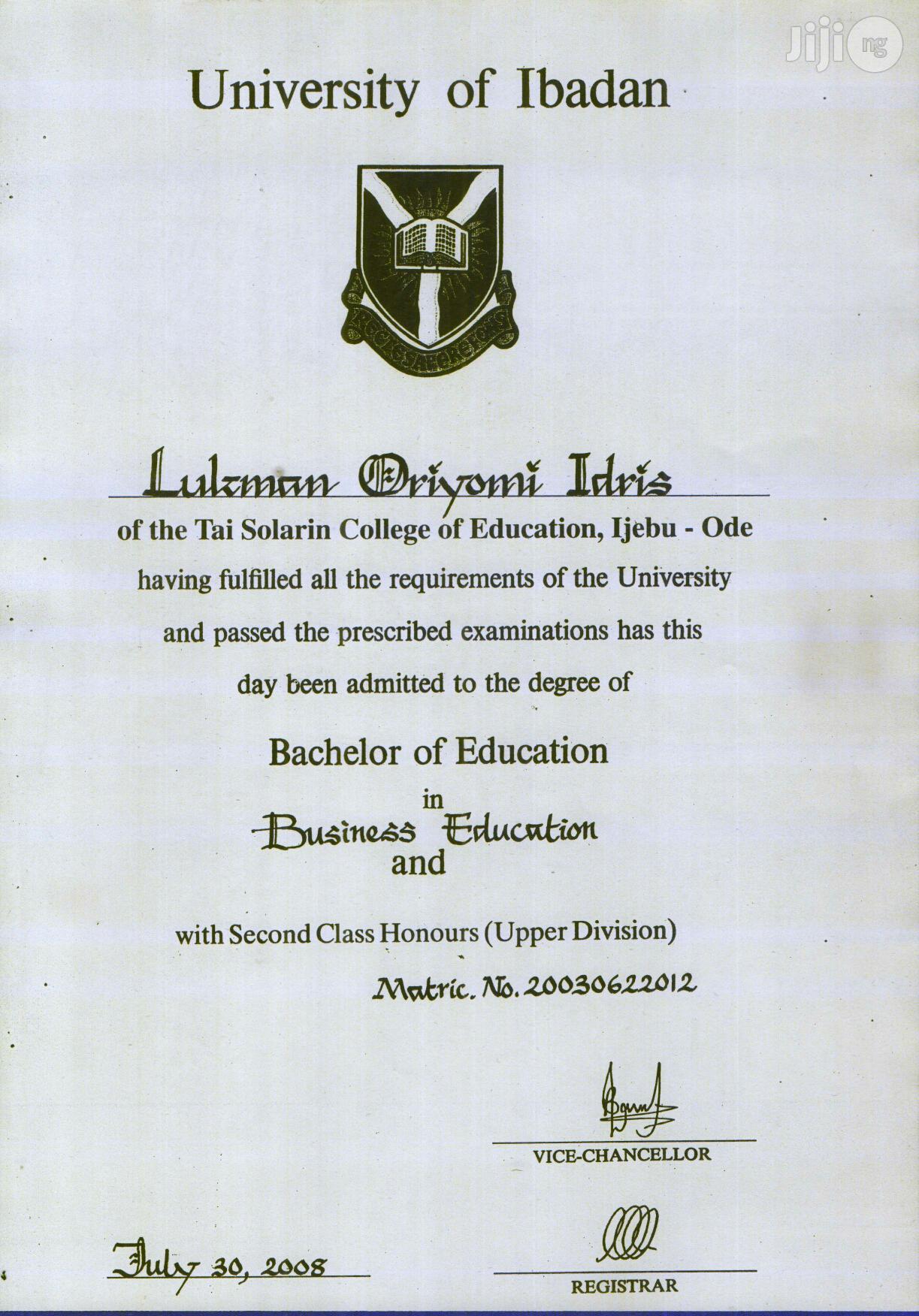Teaching Cv | Teaching CVs for sale in Ijebu Ode, Ogun State, Nigeria