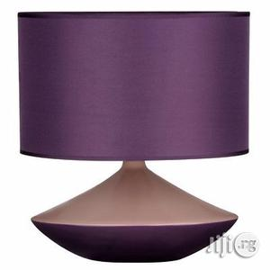 Premier Housewares Table Lamp, Purple, Ceramic, Fabric Shade   Home Accessories for sale in Lagos State, Lekki