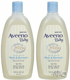 Aveeno Baby Wash & Shampoo (532ml) Sold Singly | Baby & Child Care for sale in Lagos State, Ikeja