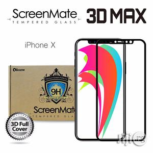 iPhone X Screenmate 3D Full Cover Tempered Glass - Black | Accessories for Mobile Phones & Tablets for sale in Lagos State, Ikeja