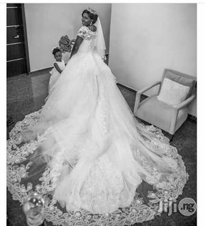 Princess Ball Gown With 8 Feel Long Cathedral Train   Wedding Wear & Accessories for sale in Lagos State, Lekki