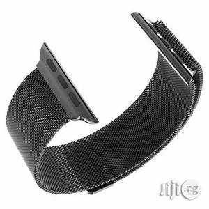 38mm Watch Loop Band Strap for Apple With Adapter - Black | Smart Watches & Trackers for sale in Lagos State