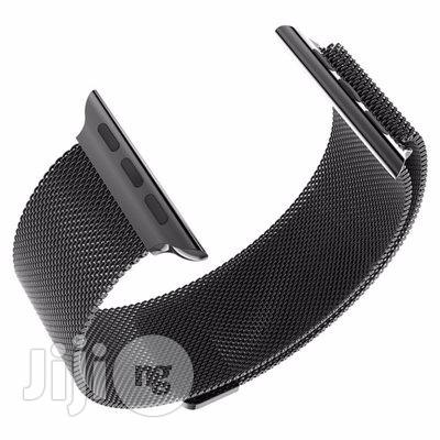 38mm Watch Loop Band Strap for Apple With Adapter - Black