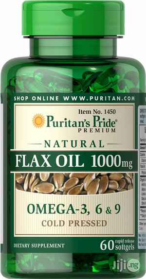 Cold Pressed Flaxseed Oil Capsules Omega-3, 6 and 9   Vitamins & Supplements for sale in Lagos State, Lekki