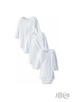 Gerber 3 Long Sleeve Onesies | Children's Clothing for sale in Lagos State, Ikeja