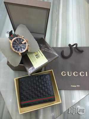Gucci Wristwatch And Gucci Wallet | Watches for sale in Lagos State, Surulere