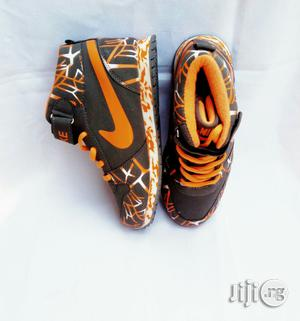 Orange and Ash Colored Nike Canvas | Children's Shoes for sale in Lagos State, Lagos Island (Eko)