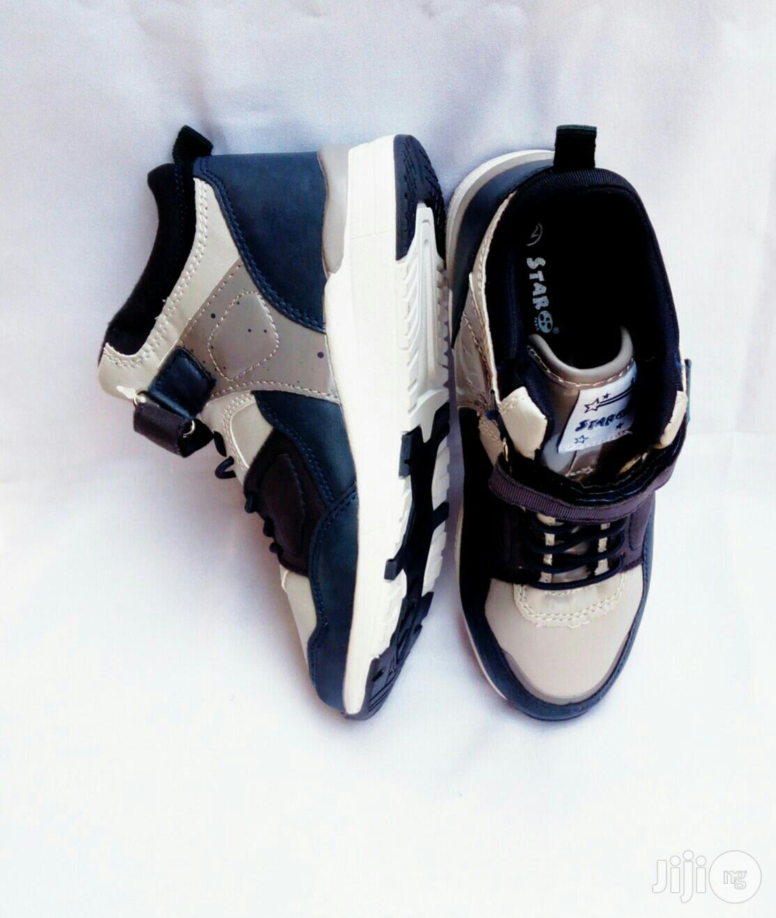 Archive: Blue and White Canvas Sneakers for Boys