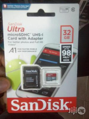 Sandisk Ultra Memory Card 32gb 98mb | Accessories for Mobile Phones & Tablets for sale in Lagos State, Ikeja