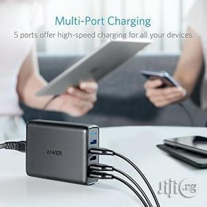 Anker 63W 5-Port USB Wall Charger With Dual Quick Charge 3.0 Ports | Accessories for Mobile Phones & Tablets for sale in Lagos State, Lagos Island (Eko)