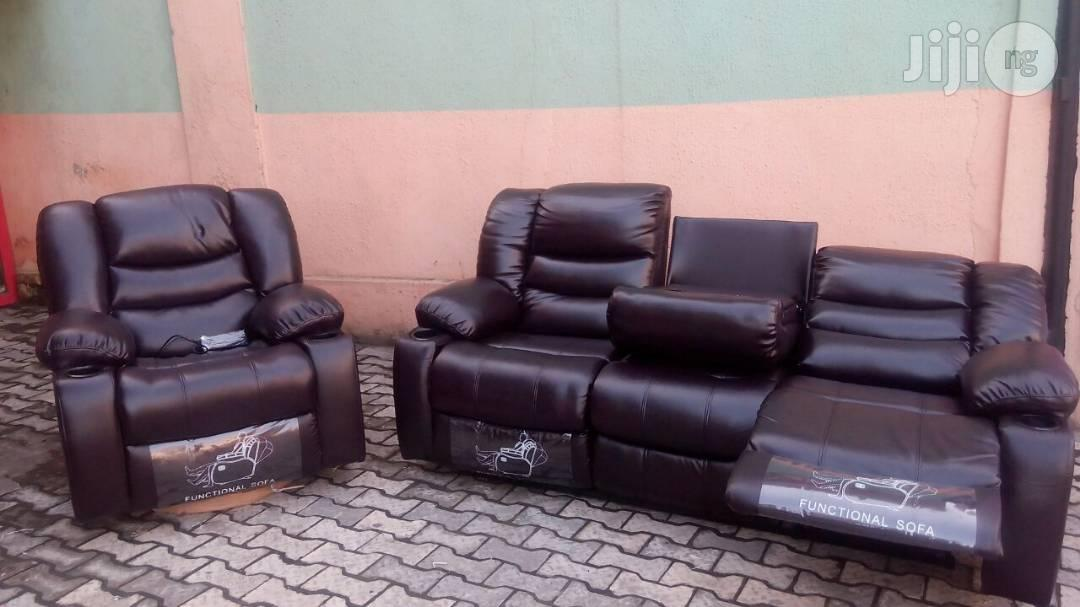 Italian Recline Sofa Chair by 6 Seaters
