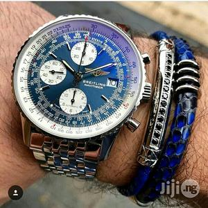 Breitling Chronograph Silver Chain Watch | Watches for sale in Lagos State, Lagos Island (Eko)