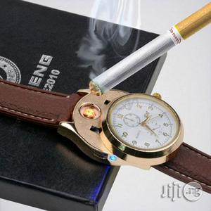 Windproof Flameless USB Cigarettelighter Watch - One Size Fits All | Watches for sale in Lagos State, Ikeja