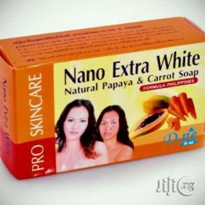 Nano Extra White Natural Papaya Carrot Soap | Bath & Body for sale in Lagos State
