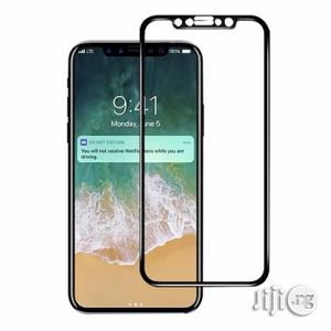 3D Tempered Glass Screen Protector for iPhone X - Black | Accessories for Mobile Phones & Tablets for sale in Lagos State