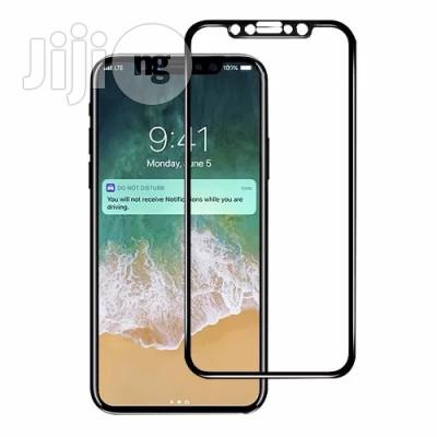 3D Tempered Glass Screen Protector for iPhone X - Black