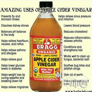 Bragg Organic Apple Cider Vinegar/With the Mother-473ml/16oz | Vitamins & Supplements for sale in Oyo State, Ibadan