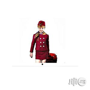 Universal Children Air Hostess Costume Set - Red | Children's Clothing for sale in Lagos State, Amuwo-Odofin