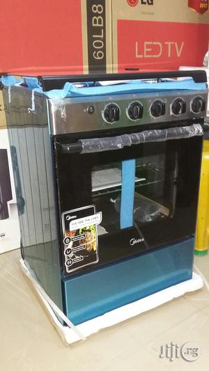 Brand New Original Midea 4burner All Gas Cooker With 1year Warranty | Kitchen Appliances for sale in Lagos State, Ojo