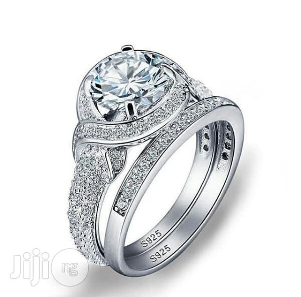 Genuine Sterling Silver S925 Bridal Set(With Male Band Free)