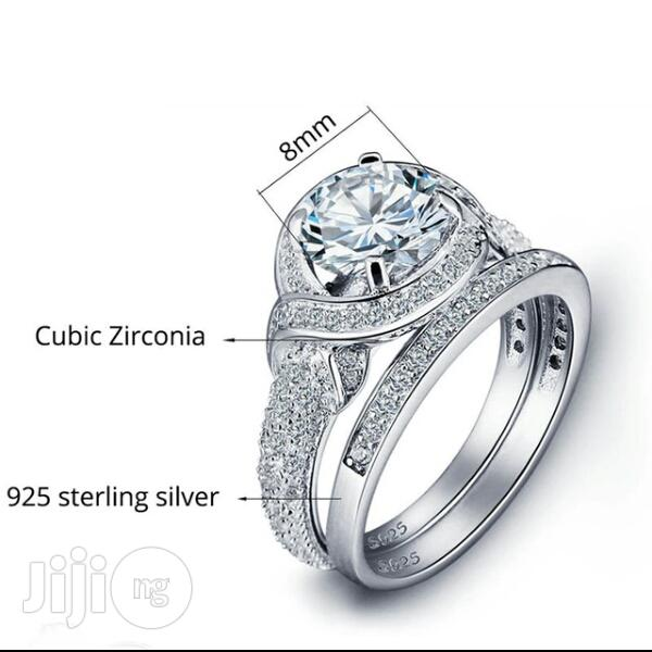 Genuine Sterling Silver S925 Bridal Set(With Male Band Free)   Wedding Wear & Accessories for sale in Warri, Delta State, Nigeria