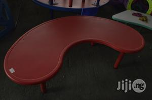 Plastic Kids Curve/Round Table Available At Mendel's Store   Children's Furniture for sale in Lagos State, Ikeja