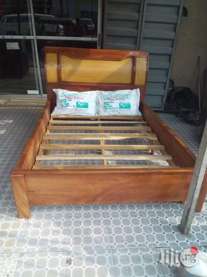 4 by 6 Wooden Bed | Furniture for sale in Lagos State, Lekki