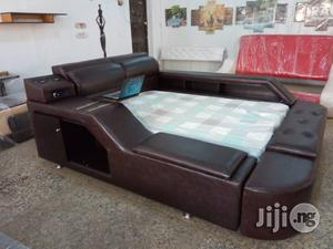 Phantom Multimedia Leather Bed 6ft X 7ft (Reference: Fx172wc) | Furniture for sale in Lagos State