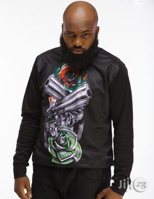 ADOT Long Sleeve Print T-Shirt - Black | Clothing for sale in Lagos State, Shomolu