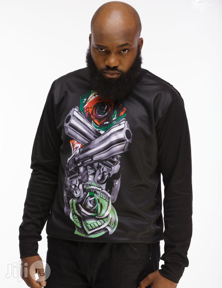 ADOT Long Sleeve Print T-Shirt - Black