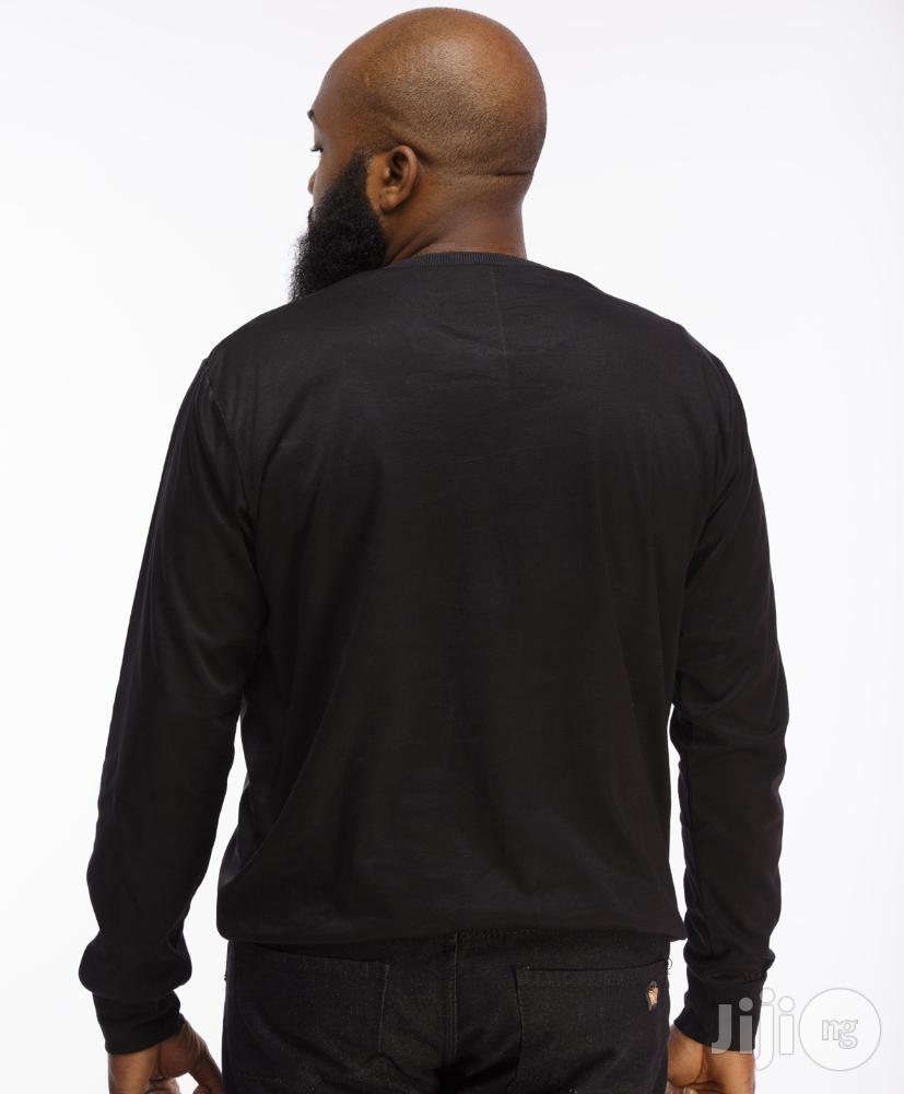 ADOT Long Sleeve Print T-Shirt - Black | Clothing for sale in Shomolu, Lagos State, Nigeria