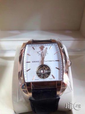 Versace Leather Strap Rose Gold Watch | Watches for sale in Lagos State, Lagos Island (Eko)