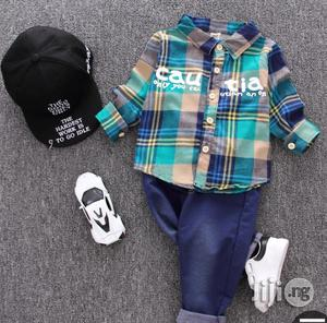 Multicoloured Shirt And Jean Trousers | Children's Clothing for sale in Lagos State, Surulere