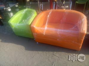 Sofa Chair Double Orange Colour   Furniture for sale in Lagos State, Ojo