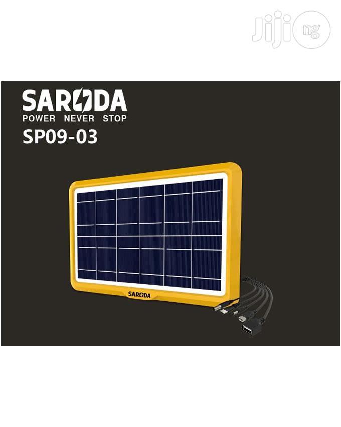 6V 6W Multi Plugs Solar Panel for Mobile Phones