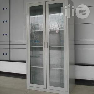 Full Height Glass Door Steel Cabinet | Furniture for sale in Lagos State, Oshodi