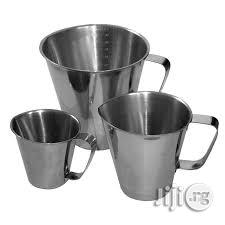 Messuring Jug Stainless Steel 0.500 And 1. 0L | Store Equipment for sale in Lagos State, Lagos Island (Eko)