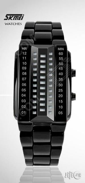 Skmei 1035 Men's Waterproof 3D Glass Dial Electronic Digital Watch. | Watches for sale in Lagos State, Ikeja