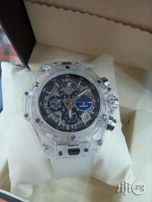 Hublot Big Bang Rubber Strap Chronograph Watch | Watches for sale in Lagos State, Surulere