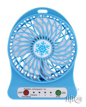 Universal Portable Mini Rechargeable Fan- Black, Blue | Home Appliances for sale in Lagos State, Agege