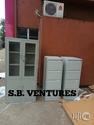 Filing Cabinet With Glass OR Normal 4 Drawer Cabinet | Furniture for sale in Lagos State, Isolo