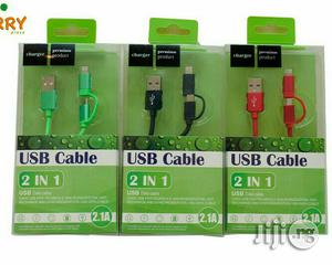 Apple And Android 2 In 1 USB Cord - Wholesale And Retail   Accessories for Mobile Phones & Tablets for sale in Lagos State, Surulere