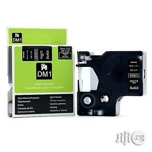 Dymodymo DMI 9mm Black On White Dymo Label Tape Catridge | Stationery for sale in Lagos State, Ikeja
